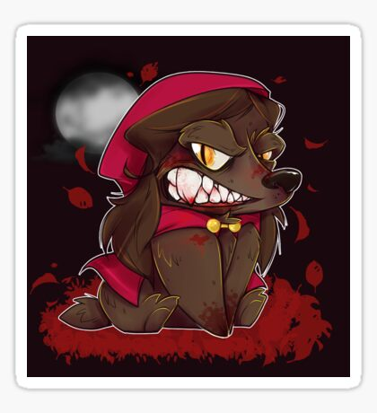 Little Red Werewolf Sticker