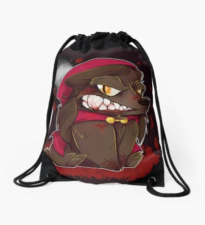 Little Red Werewolf Drawstring Bag