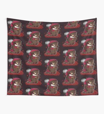 Little Red Werewolf Wall Tapestry