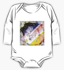 Digitally generated Multicolored abstract pattern  One Piece - Long Sleeve