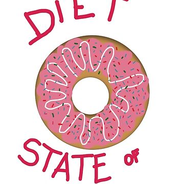 Diet state of mind  with donuts graphic by Tottobydesign