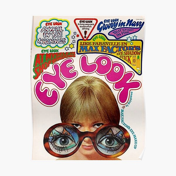 Vintage Eye Look ad the 1970s Poster