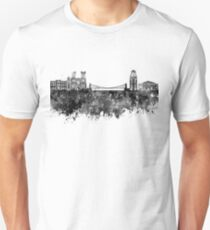 Bristol skyline in black watercolor Unisex T-Shirt