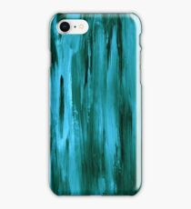 Abstract hand drawn print painted with acrylic and love iPhone Case/Skin