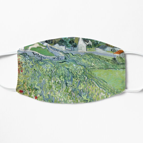 Vincent van Gogh's Vineyards at Auvers  Flat Mask