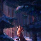 Fox in a snowy forest by torysevas