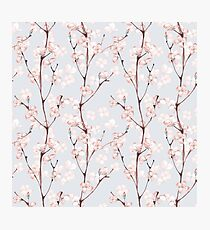 Blossom. Watercolor seamless floral pattern Photographic Print