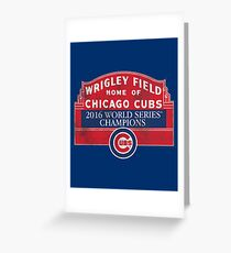 Cubs 2016 World Series Champions Greeting Card