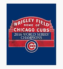 Cubs 2016 World Series Champions Photographic Print