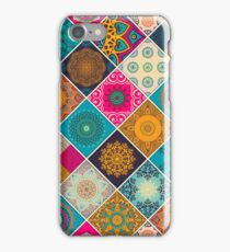 Buntes Bohemian Mandala Patchwork Design iPhone Case/Skin