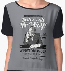 Better call Mr. Wolf Women's Chiffon Top