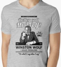 Better call Mr. Wolf Men's V-Neck T-Shirt