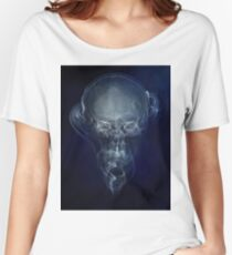 Skull and smokes - blue version Women's Relaxed Fit T-Shirt