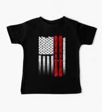 Ski US American Flag - Skiing  Kids Clothes