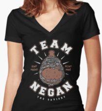 Team Negan Women's Fitted V-Neck T-Shirt