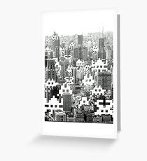 Space Invaders ! Greeting Card