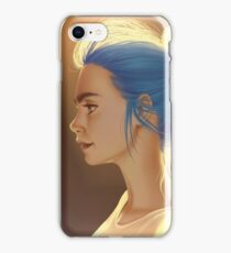Blue Bun iPhone Case/Skin