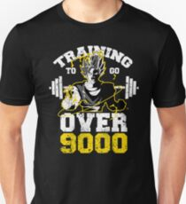 TRAINING TO GO OVER 9000 workout gym fit lifting weight power T-Shirt