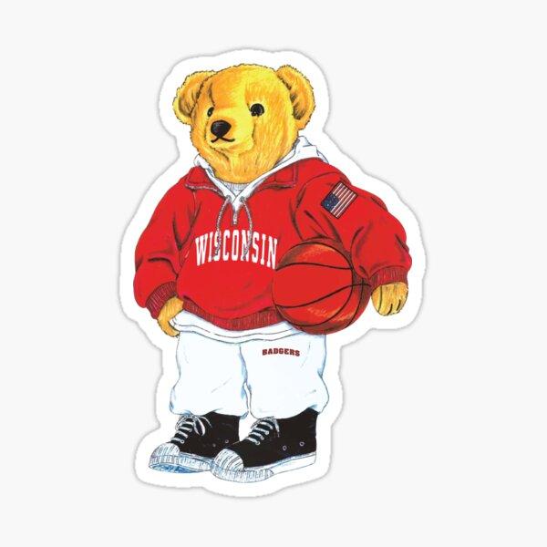 University of Wisconsin Polo Bear - Basketball Sticker