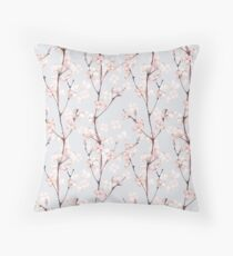 Blossom. Watercolor seamless floral pattern Throw Pillow