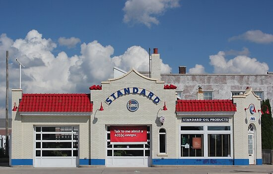 Old Standard Station by marybedy
