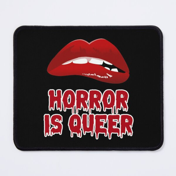 Funny Halloween design with a phrase Horror is Queer, a great gift for a friend or yourself Mouse Pad