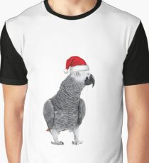 African Grey Parrot - Merry Christmas! Graphic T-Shirt