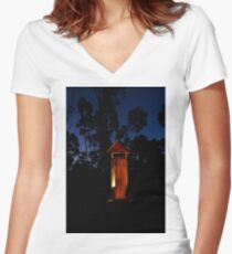 Outback rest stop Women's Fitted V-Neck T-Shirt