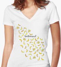 B-b-b-bananarama! Women's Fitted V-Neck T-Shirt