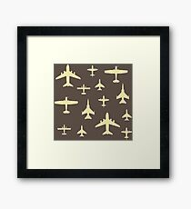 Airplane Pilot Fly Past Captain Overhead Framed Print