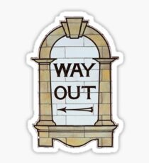 Way Out Sticker