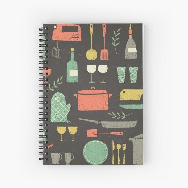Love Your Kitchen. Retro Edition Spiral Notebook