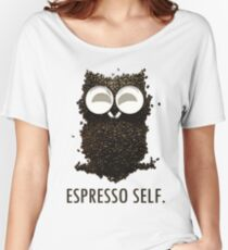 Espresso Self w/ text Women's Relaxed Fit T-Shirt