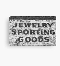 Jewelry Sporting Goods BW Canvas Print