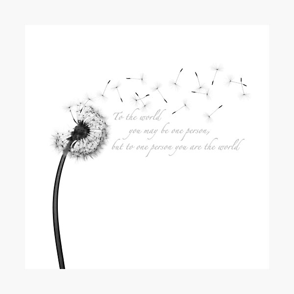 Dandelion Inspiration Photographic Print