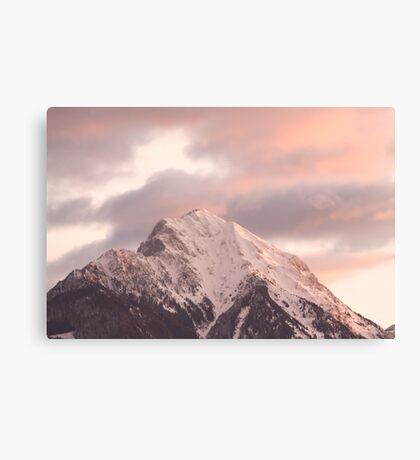Mountain peak at sunrise Canvas Print
