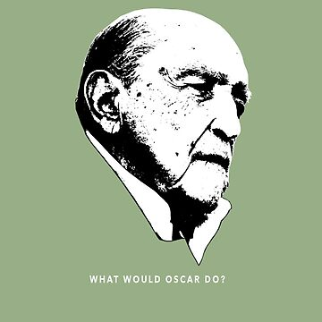 What would Oscar do? Architecture T shirt by pohcsneb
