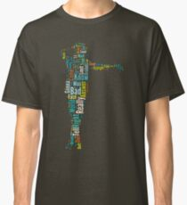 Michael Jackson Typography Poster Bad Classic T-Shirt