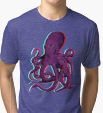 3D Octopus Tri-blend T-Shirt