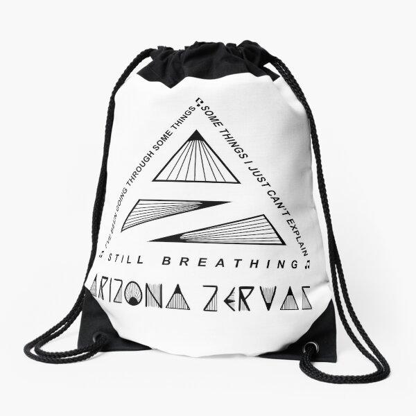 Arizona Zervas Still Breathing Drawstring Bag