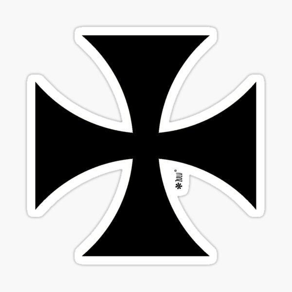 Iron Cross Standard German Eisernes Kreuz Germany Car Sticker Black Vinyl Decal