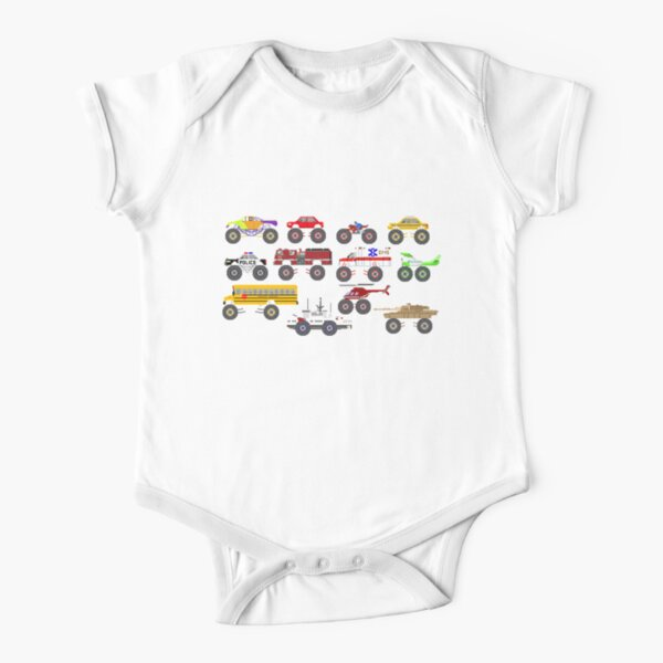 Monster Vehicles - The Kids' Picture Show Short Sleeve Baby One-Piece