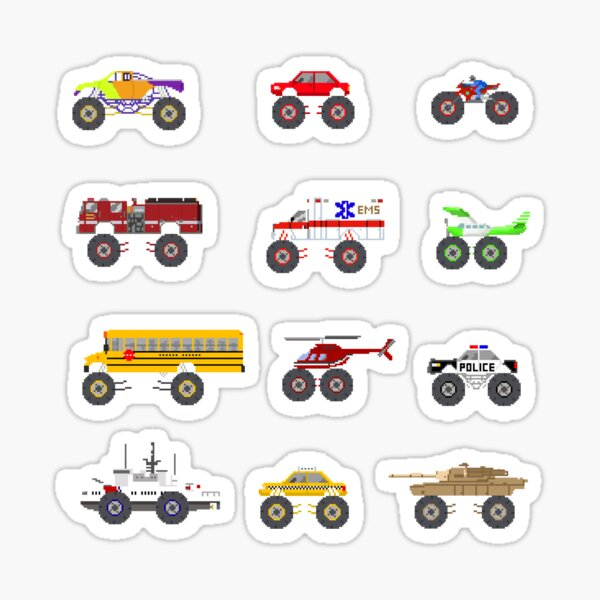 Monster Vehicles - The Kids' Picture Show Sticker