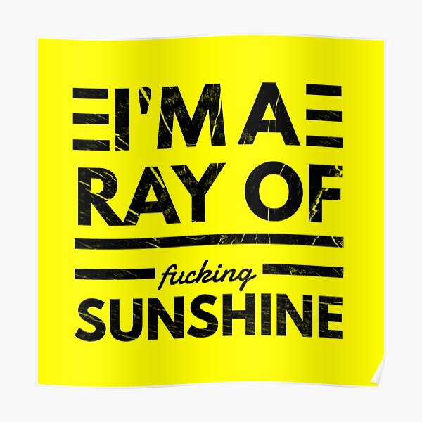 I'm a ray of fucking sunshine vv Poster