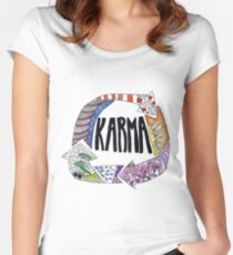 Karma Women's Fitted Scoop T-Shirt