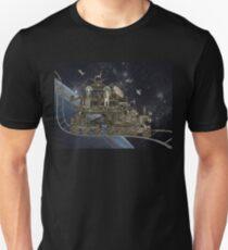 Space Cat Train Unisex T-Shirt