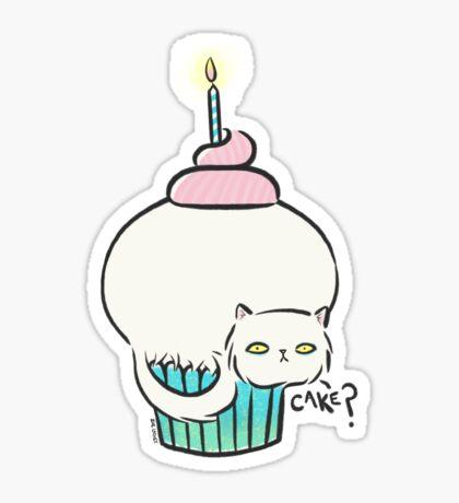 Kitty Cat Cake Sticker