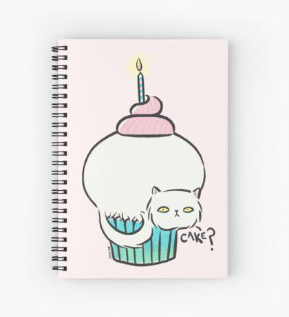 Kitty Cat Cake Spiral Notebook
