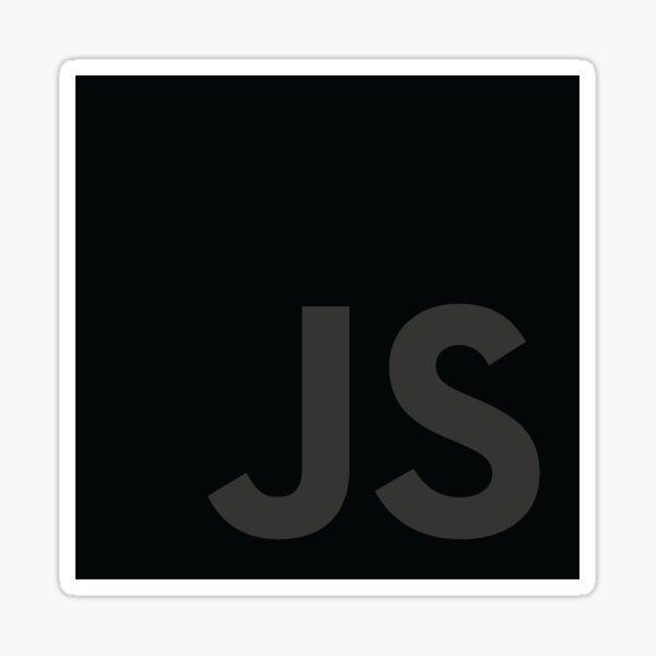JavaScript grey Sticker
