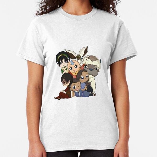Chibi Avatar Gaang Camiseta clásica